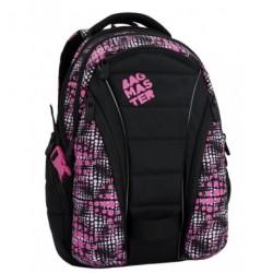 Studentský batoh Bagmaster BAG 6 D black/pink (černá/růžová)