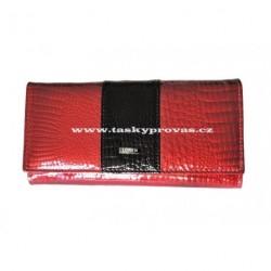 Peněženka dámská kožená Loren 72032-RS red/black