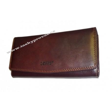 Dámská kožená luxusní peněženka Cosset 4466 Vitto hnědá
