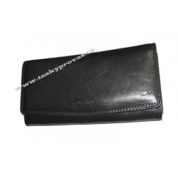 Dámská kožená luxusní peněženka Cosset 4466 Vitto černá