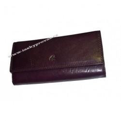 Dámská kožená luxusní peněženka Cosset 4493 Komodo purple