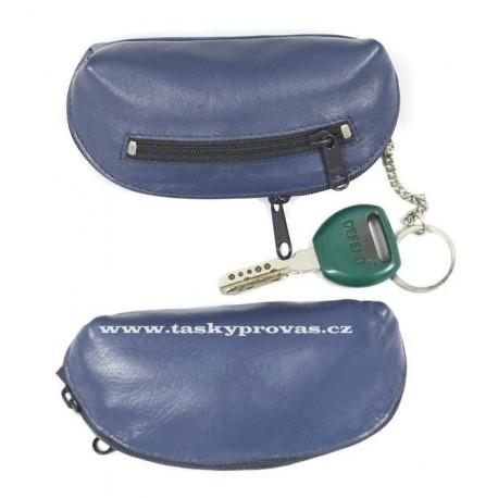 Klíčenka kožená Arwel 619-0367 modrá