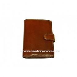Kožená pánská peněženka Sněžka Náchod - Vera V0812AB hnědá