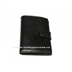 Kožená pánská peněženka Sněžka Náchod - Vera V0812AB černá