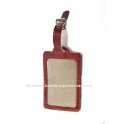 Kožená visačka na zavazadlo Hajn 291301.0 červaná