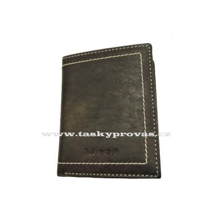 Pánská kožená peněženka Lagen 9277 hnědá