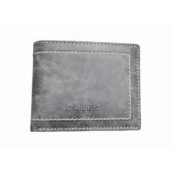 Pánská kožená peněženka Lagen W-8193 šedá