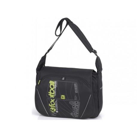 Taška přes rameno s klopou Gabol FOOTBALL 216189 černá/zelinkavá/šedá
