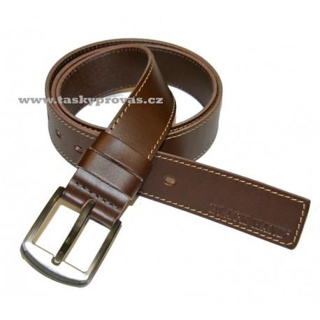Kožený pásek Black 112-78 1PR hnědý