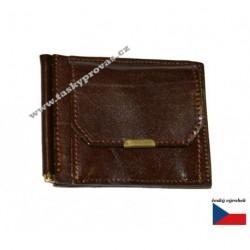 Hajn kožená peněženka dolarka 511021.4 tm.hnědá