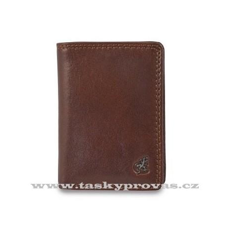 Kožené pouzdro na vizitky nebo kreditní karty Cosset Komodo 4410 hnědá