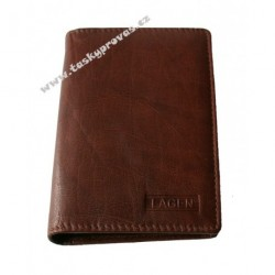 Pouzdro na doklady kožené Lagen V-60 brown