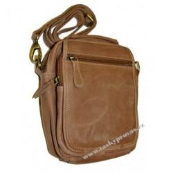 Kožená taška přes rameno Tom 1036-80 hnědá