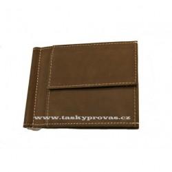 Kožená peněženka dolarka Tom 2066-80 hnědá