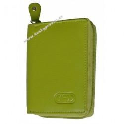 Kožené pouzdro na kreditní karty nebo vizitky DD E 3506-19 light green