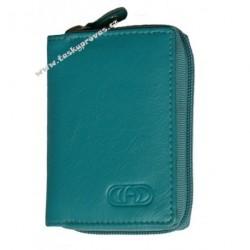 Kožené pouzdro na kreditní karty nebo vizitky DD EX 3506 acua blue