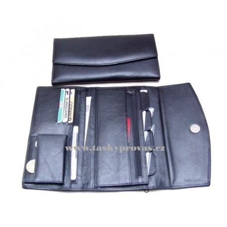 Kožené pouzdro na doklady Arwel 514-0383 černé