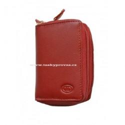 Kožené pouzdro na kreditní karty nebo vizitky DD S 786-07 červené