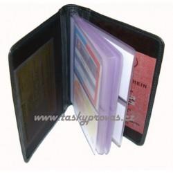 Kožené pouzdro na vizitky nebo kreditní karty Arwel 514-0341 černé