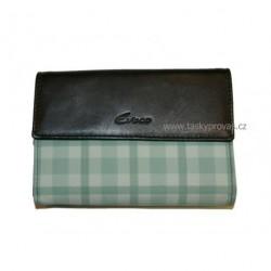 Dámská kožená peněženka Evoco 616.872.8503 černá/zelená