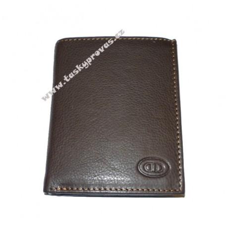 Kožená peněženka DD GU MS 14 tm.hnědá