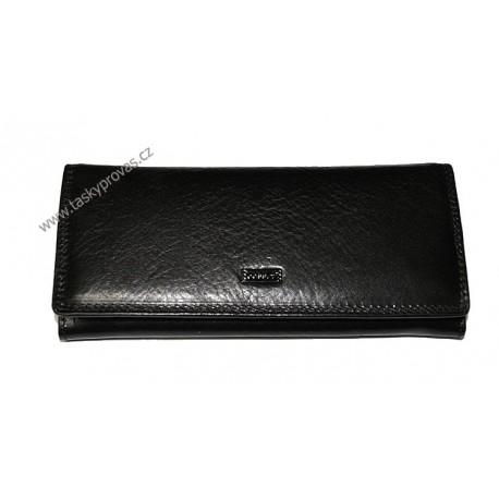 Dámská kožená luxusní peněženka Cosset 4421 Flamengo černá