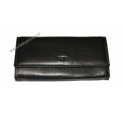 Dámská kožená luxusní peněženka Cosset 4493 Flamengo černá