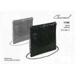 Kabelka společenská Charmel 1766 stríbrná