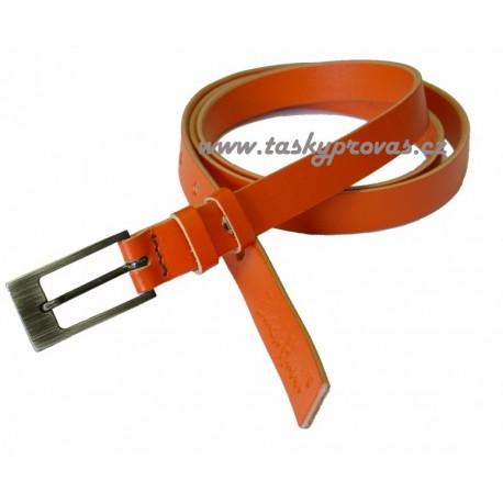Black kožený opasek 069-59 oranžový