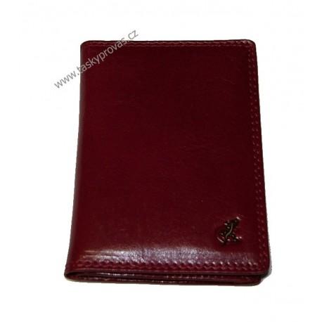 Pouzdro na doklady kožené Cosset 4426 Komodo cardinale