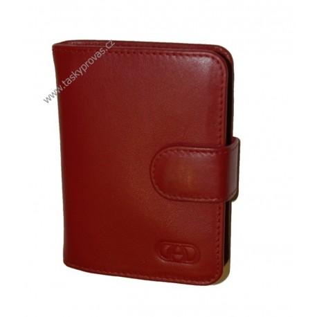Kožené pouzdro na vizitky nebo kreditní karty DD SPL 97-08 červené