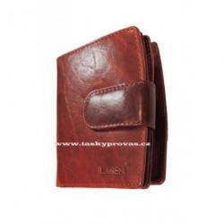 Kožená peněženka dámská Lagen 3807/T tm.červená
