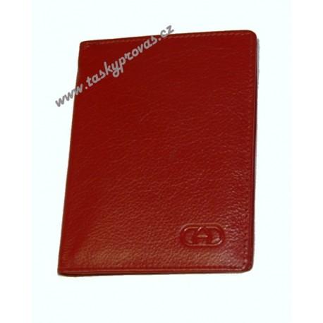Pouzdro na doklady kožené DD SPL 178-08 červená
