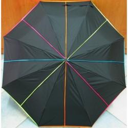Deštník skládací Cabrio NEON 3063 barevné pruhy