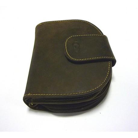 Dámská kožená peněženka DD SLW 30-03 tm.hnědá