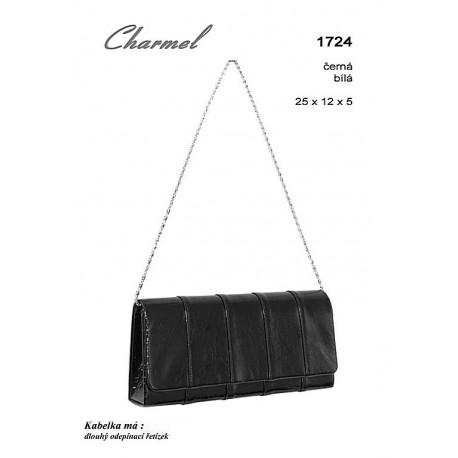 společenská kabelka  Charmel 1724 černá