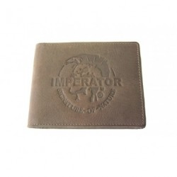 Kožená peněženka dolarka DD Imperator M 221-03 hnědá