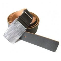 Kožený pásek Black 061-91 tm.hnědý