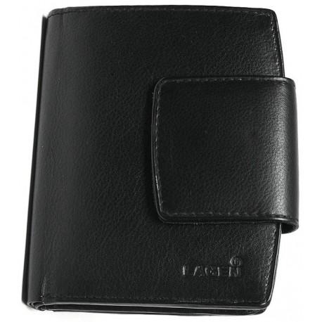 Kožená peněženka Lagen LM 3994 černá lesk.