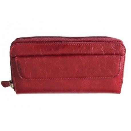 Dámská kožená peněženka Vera 22346 červená