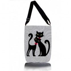 Kabelka přes rameno Bertoni - Cats In Black 654-6