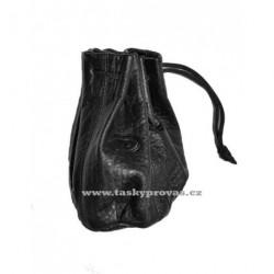 Kožený měšec DD A100-01 černý