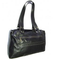 Kožená kabelka Coveri 682/8 černá