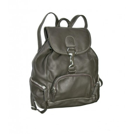 Kožený batoh Katana 89325 tm.šedo-hnědá