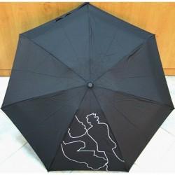 Deštník mini skládací Bargués 4006B černý/ šachy