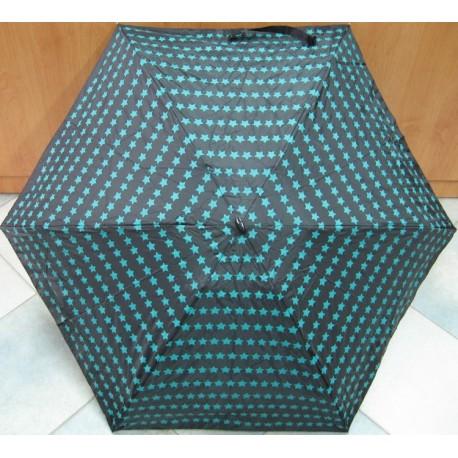 Deštník mini skládací Blue Drop A378DC černý/ hvězdy