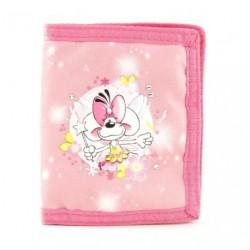 Dětská peněženka Diddlina Fairy růžová 22836