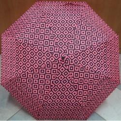 Deštník skládací  Falconetti LF 135 A růžovo-tmavý