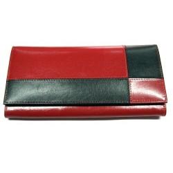 Krol 7604 černočervená dámská kožená peněženka