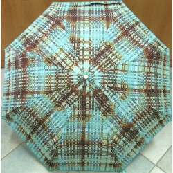 Deštník skládací GianMarcoVenturi Perletti 20153 tyrkysovo-hnědý